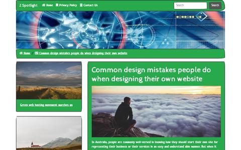 Screenshot of Home Page zspotlight.com - Z Spotlight - captured Nov. 16, 2018