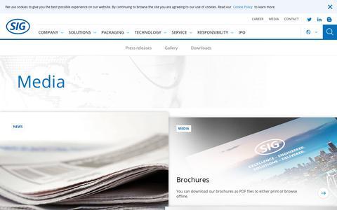 Screenshot of Press Page sig.biz - Media - captured Sept. 24, 2018