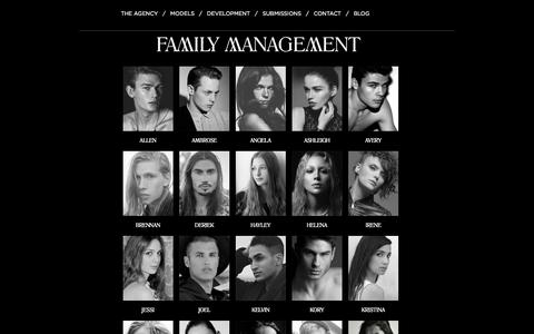 Screenshot of Home Page thefamilymgmt.com - Family Management - Vancouver Model Agency - captured Oct. 5, 2014