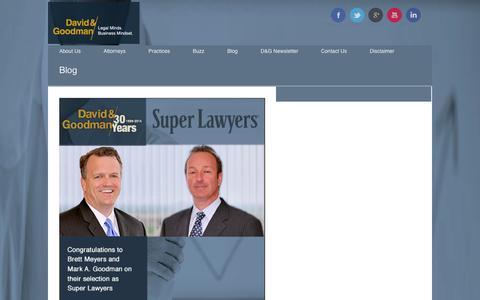 Screenshot of Blog david-goodman.com - Articles, Posts, Blogs and Latest News for David & Goodman, a Professional Corporation - captured Sept. 30, 2014