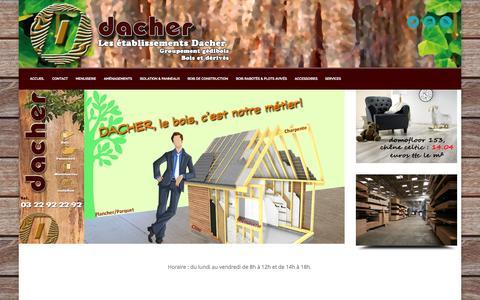 Screenshot of Home Page dacher.fr - DACHER - captured Oct. 3, 2014