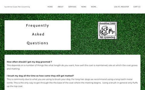 Screenshot of FAQ Page dog-groomers.com.au - FAQ - Sunshine Coast Pet Grooming - captured Dec. 11, 2018