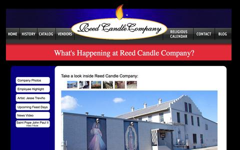 Screenshot of Blog reedcandlecompany.com - Blog - captured Oct. 7, 2014