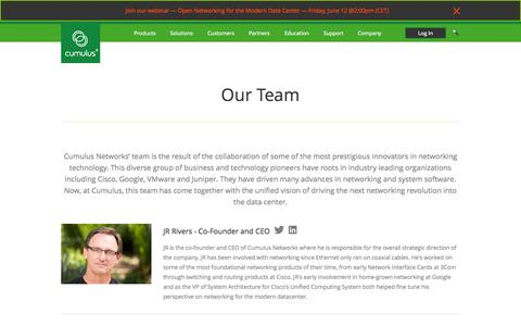 Screenshot of Team Page cumulusnetworks.com - Cumulus Networks | Cumulus Team - captured June 16, 2015
