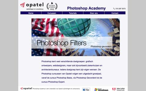 Screenshot of Home Page photoshop-academy.nl - OpatelPhotoshop Academy - Photoshop Cursussen | Tutorials | Tips & Tricks - captured Aug. 30, 2015