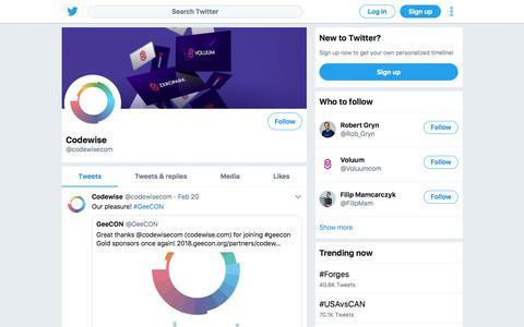 Tweets by Codewise (@codewisecom) – Twitter