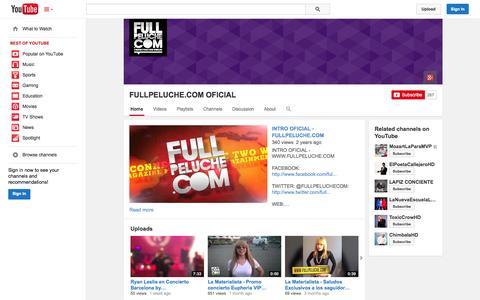 Screenshot of YouTube Page youtube.com - FULLPELUCHE.COM OFICIAL  - YouTube - captured Nov. 2, 2014