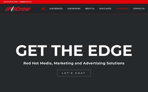 Screenshot of Home Page ipitcrew.com - iPitCrew- Digital Media, Marketing, and Advertising Agency Servicing Nashville TN - captured Sept. 20, 2018