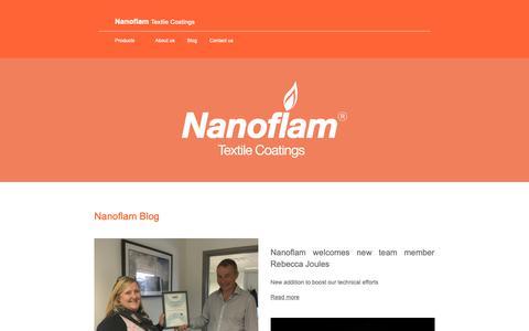 Screenshot of Blog nanoflam.com - Nanoflam Blog | Nanoflam - captured Oct. 18, 2018