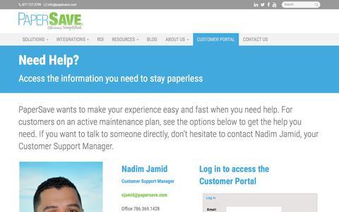 Customer Portal - Miami, Coral Gables, Hialeah | PaperSave