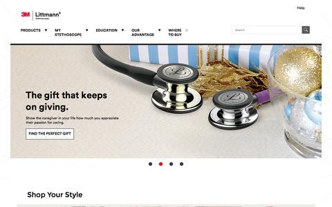 Screenshot of littmann.com - Littmann Stethoscopes | 3M United States - captured Nov. 20, 2017