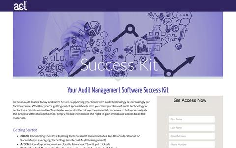 Screenshot of Landing Page acl.com - Download Your Audit Success Kit - captured Aug. 2, 2016