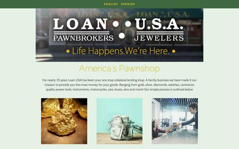 Screenshot of Home Page loanusa.com - Pawn Shop| Massachusetts | Cash for Gold | Loan USA - captured Sept. 29, 2018