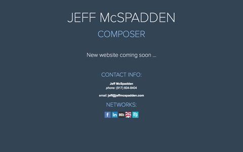 Screenshot of Press Page jeffmcspadden.com - News | Jeff McSpadden Composer | film . television . digital - captured Sept. 30, 2014