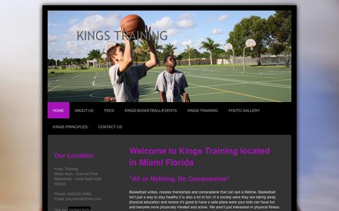 Screenshot of Home Page training-kings.com - Welcome to Kings Training - captured Oct. 6, 2014