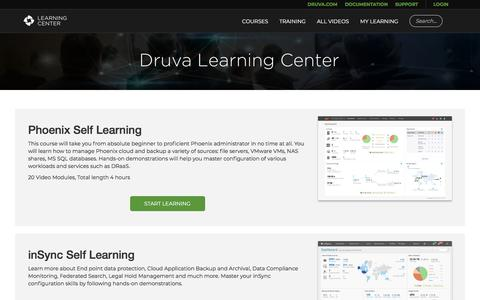 Home | Druva Learning Center