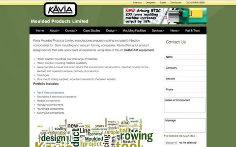 Screenshot of About Page kavia.info - About Kavia Moulded Products | Kavia Moulded Products - captured Oct. 17, 2017