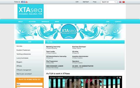 Screenshot of Signup Page xtasea.com - Job   Xtasea - captured Sept. 30, 2014