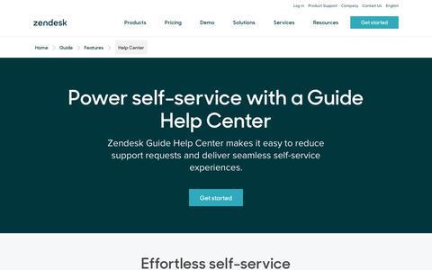 Screenshot of Support Page zendesk.com - Help Center Self-Service Portal | Zendesk - captured Aug. 4, 2018