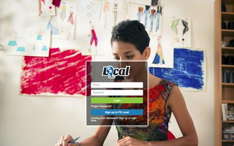 Screenshot of Login Page fslocal.com - FS Local Canadian Small Business Marketing Dashboard Login Page - captured Jan. 28, 2016