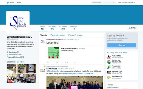 Screenshot of Twitter Page twitter.com - SilverStateSchoolsCU (@SilverStateCU) | Twitter - captured Oct. 15, 2015