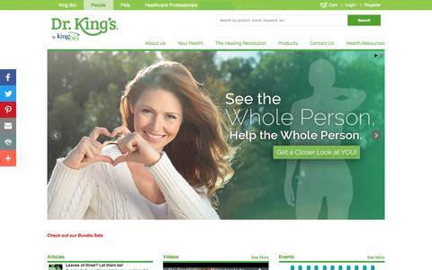 Screenshot of Team Page kingbio.com - People | Dr. King's - captured Jan. 13, 2017