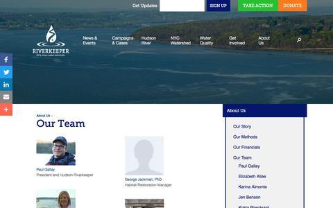 Screenshot of Team Page riverkeeper.org - Our Team - Riverkeeper - captured Sept. 21, 2018