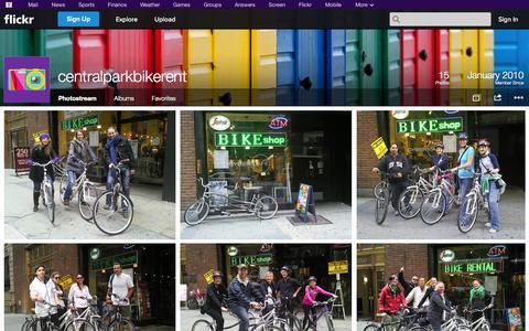 Screenshot of Flickr Page flickr.com - Flickr: centralparkbikerent's Photostream - captured Oct. 22, 2014
