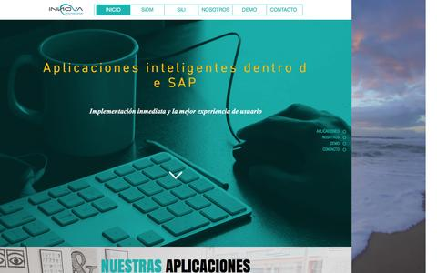Screenshot of Home Page innovainternacional.biz - Aplicaciones para SAP - captured July 21, 2016