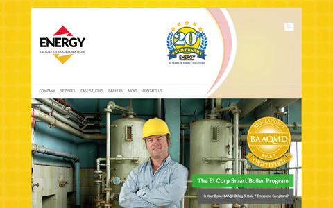 Screenshot of Home Page energy-industries.com - Energy Industries Corporation - Clean and Efficient Energy - captured Oct. 2, 2014