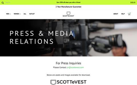 Press Kit - SCOTTeVEST Media Relations