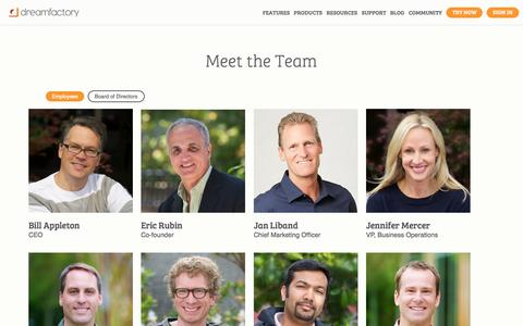 Screenshot of Team Page dreamfactory.com - Meet the Team   DreamFactory - captured July 3, 2015