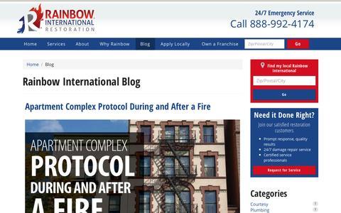 Screenshot of Blog rainbowintl.com - Blog | Rainbow International - captured March 24, 2017