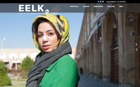 Screenshot of Home Page eelk.nl - Eelk.nl | Fotograaf Leiden - captured Oct. 7, 2014