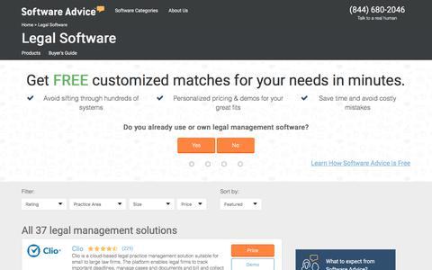 Best Legal Software - 2017 Reviews, Pricing & Demos
