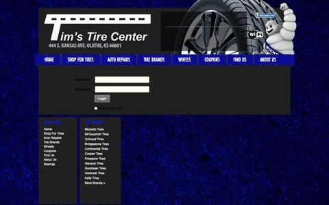 Screenshot of Login Page timstirecenter.com - User Log In - captured Oct. 9, 2014