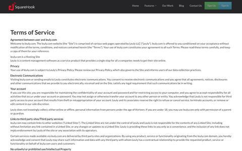 Screenshot of Terms Page wasatchgp.com - Terms | SquareHook - captured June 11, 2017