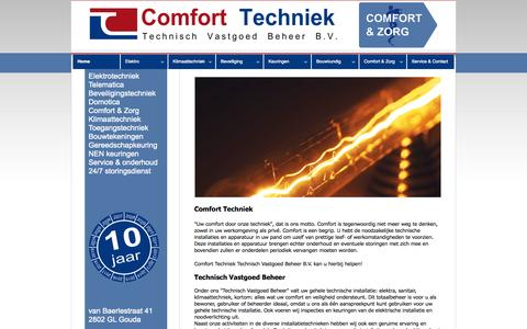 Screenshot of Home Page comforttechniektvb.nl - www.comforttechniektvb.nl :: Home - captured Oct. 2, 2014