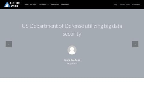 US Department of Defense utilizing big data security | Arctic Wolf