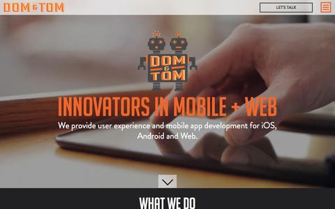 Best iPhone App Developers, Mobile App Development Company Đ Dom & Tom