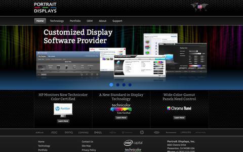 Screenshot of Home Page portrait.com - Portrait Displays | Software for Displays – Customized for OEM Brands - captured Sept. 23, 2014