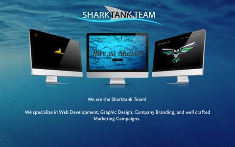 Screenshot of Home Page sharktankteam.com - Sharktank Team - captured Aug. 15, 2016