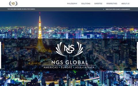 Screenshot of Home Page ngs-global.com - NGS Global - NGS Global - captured Feb. 22, 2016
