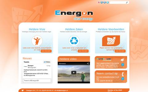 Screenshot of Home Page energon.nl - Home | Energon - captured Sept. 30, 2014