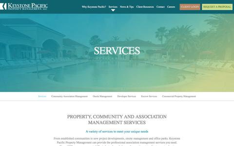 Screenshot of Services Page kppm.com - Property, Community and Association Management Services | Southern, CA - captured Oct. 17, 2017