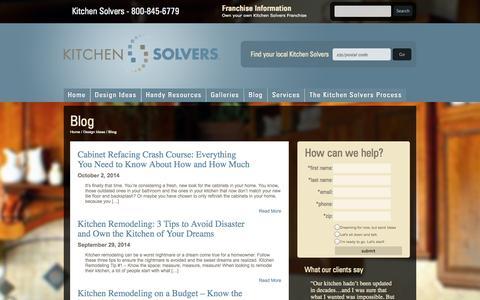 Screenshot of Blog kitchensolvers.com - Blog | Kitchen Solvers - captured Oct. 6, 2014