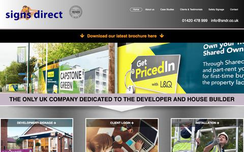 Screenshot of Home Page signs-direct.biz - Welcome to Signs Direct (UK) Ltd - Signs Direct - captured Oct. 2, 2018