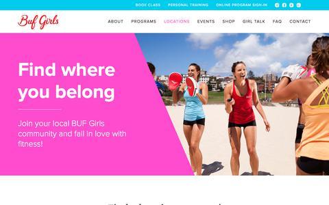 Screenshot of Locations Page bufgirls.com - Locations | BUF Girls - captured Jan. 4, 2018