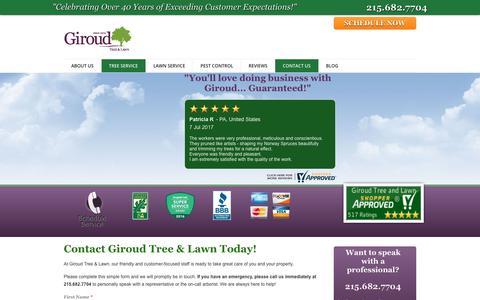 Screenshot of Contact Page giroudtree.com - Contact Giroud Tree and Lawn | Giroud Tree and Lawn Service - captured Aug. 5, 2017
