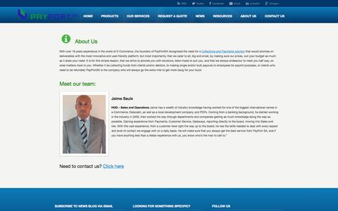Screenshot of About Page payportsa.co.za - Team Members - PayPortSA - E-Commerce PayPortSA - captured Sept. 29, 2014